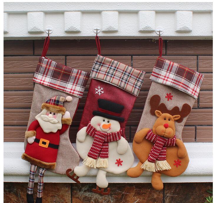 1pcs natale decorazioni christmas stocking gift bag - Decoraciones de hogar ...