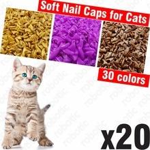 Mäkké nechty pre mačky + 1x lepidlo na lepidlo + 1x aplikátor veľkosť XS, S, M, L, obal, mačka, labka, dráp, pazúr