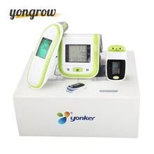 Yongrow Fingertip Pulse Oximeter Wrist blood Pressure Monitor Digital Thermometer With Gift Box Medical Oximetro de dedo SPO2