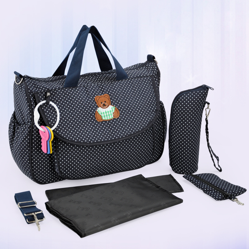 New Multifunctional Diaper Bags Mother Bag High Quality Maternity  Mummy Nappy Bags Flower Style Mom Handbag Baby Stroller Bag