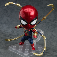 Infinito Guerra Ferro Spiderman Homem Aranha Figura de Ação Bonito Mini PVC Figure Collectible Modelo Toy 415(China)