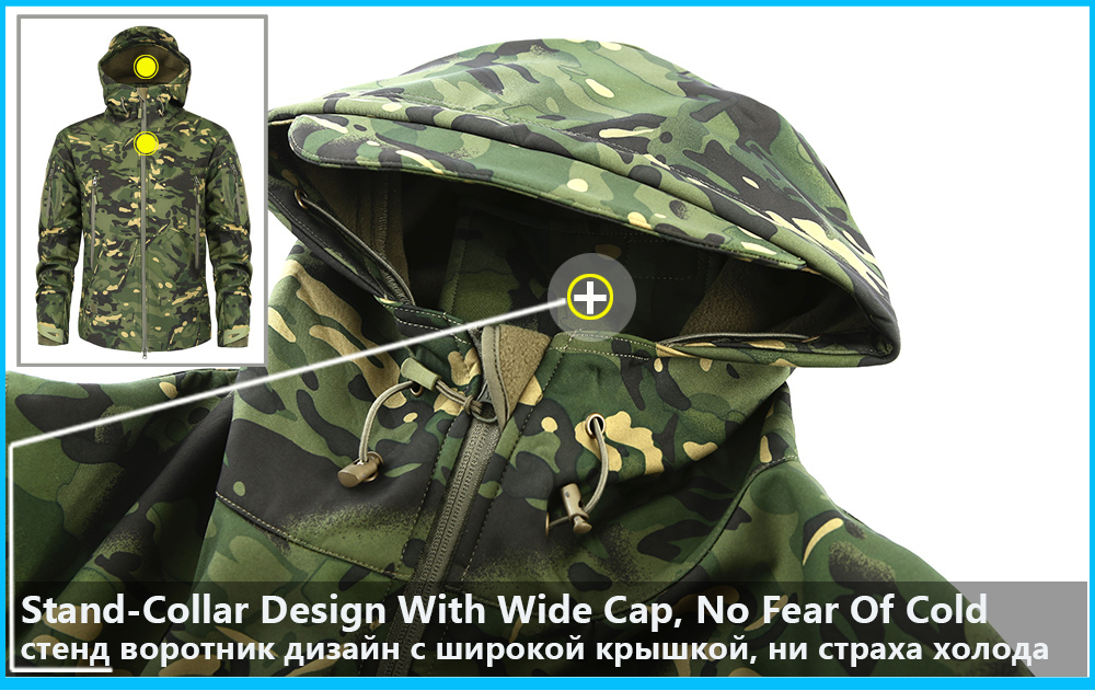 Men's Military Camouflage Fleece Jacket Army Tactical Clothing 14
