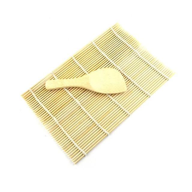 High quality Sushi Making Tool Set Sushi Rolling Bamboo Mats with Bamboo Spoon Sushi Roller Pad Sushi DIY Maker Tool