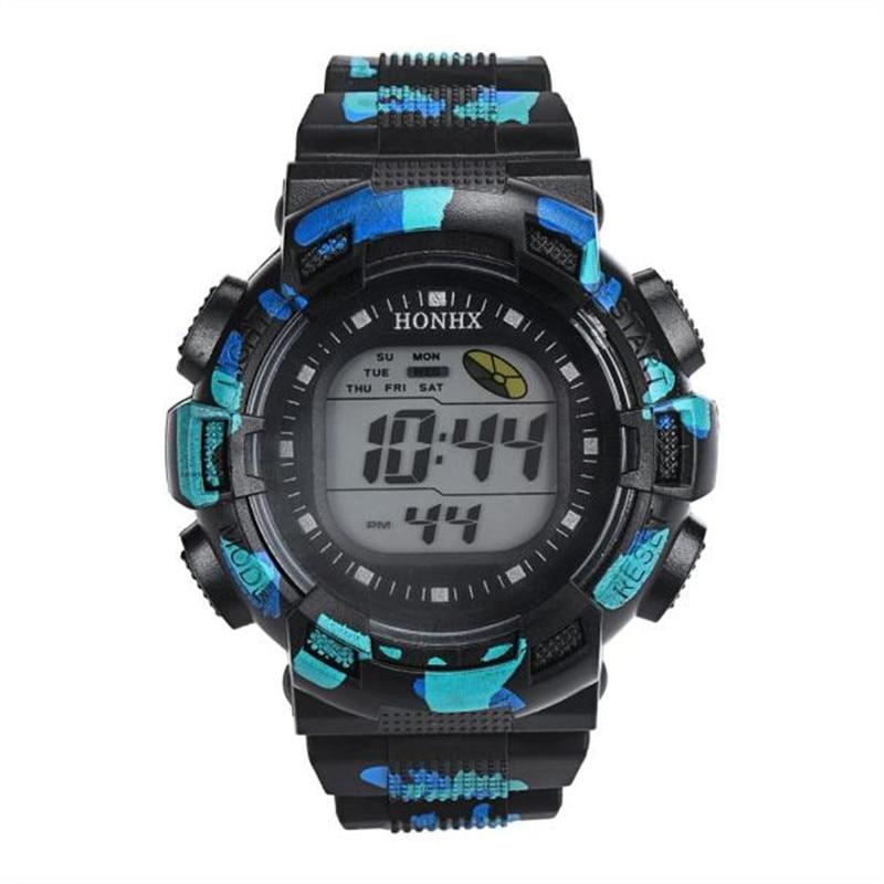 Men Watch Quartz Wristwatch Men Fashion LED Digital Alarm Date Rubber Army Watch Waterproof Sport Wristwatch male 170407 P*21 alike a1278 waterproof digital quartz sport wristwatch timepiece with rubber band for men blue