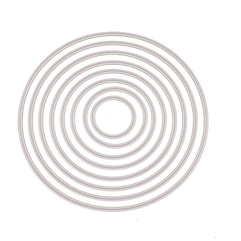 Round Cutting Dies Stencil DIY Scrapbooking Embossing Album Paper Card Crafts  #0705# Drop Shipping