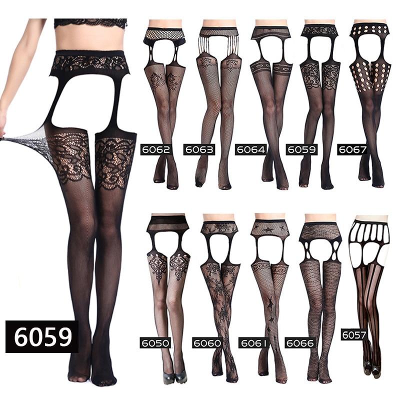 Для женщин сексуальные чулки нижнее белье на поясе в полоску с эластичной резинкой и имитацией подвязок, черные чулки в сетку облегающие пр...