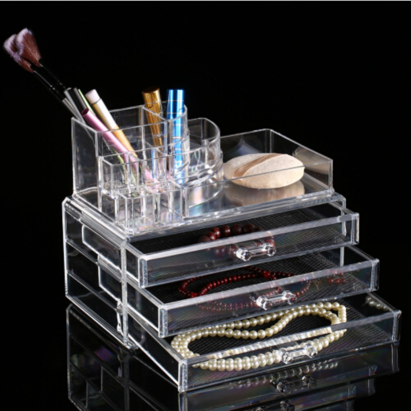 Acrylic makeup organizer storage box cosmetic organizador de maquiagem makeup storage drawers P10