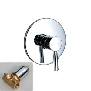 MTTUZK Shower Faucet Wall-Concealed Cold-Mix-Valve Brass Copper Hot And Solid The Three-Links