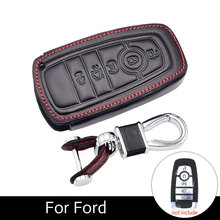 Leather Car Key Case Cover Fob For Ford 2017-2018 F-150 F-250 F-350 F-450 F-550 Fusion Leather Key Accessory Car Holder c graupner ouverture in f major gwv 450