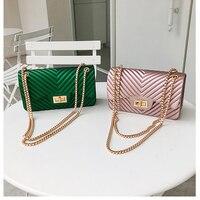 Высокое качество дизайн мини маленькие женские сумки Женская цепочка желе сумка из искусственной кожи сумки на плечо для женщин 2018 Новинка