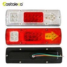 Castaleca светодио дный 1 шт. 19 LED Caravan освещение фара грузовика Caravan грузовик задний фонарь поворотов Обратный тормоз лампа 12 В в В 24