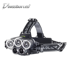 USB Rechargeable LED Headlamp 25000lm 25W Headlights 6 Modes Cree 18650 Tactical Outdoor Flashlight for Fishing Hunting