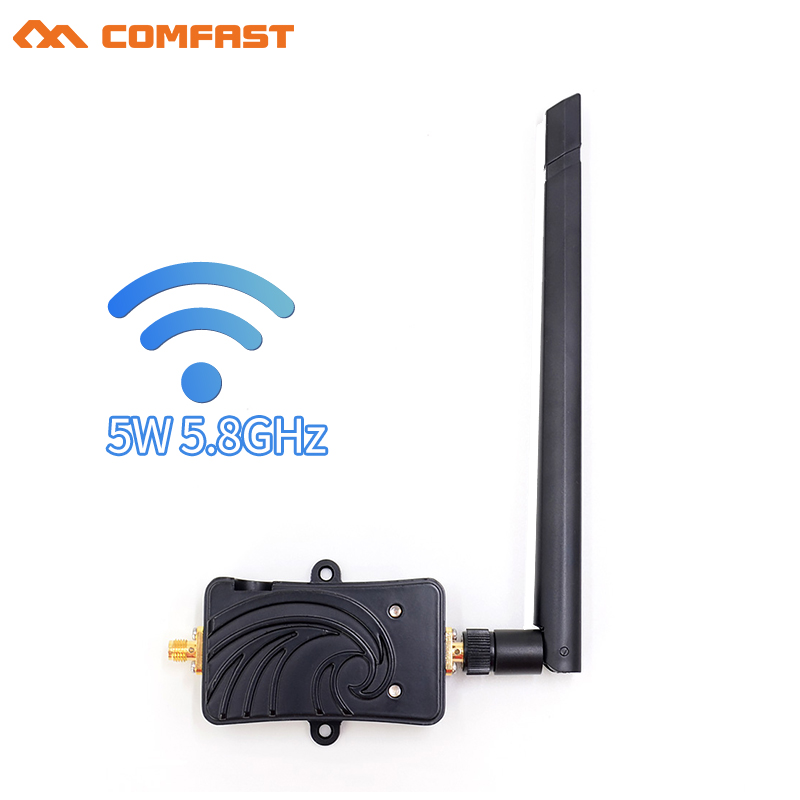 5 8Ghz Wifi Signal Booster 5W wi fi range Extender Repeater Broadband Amplifiers with antenna for