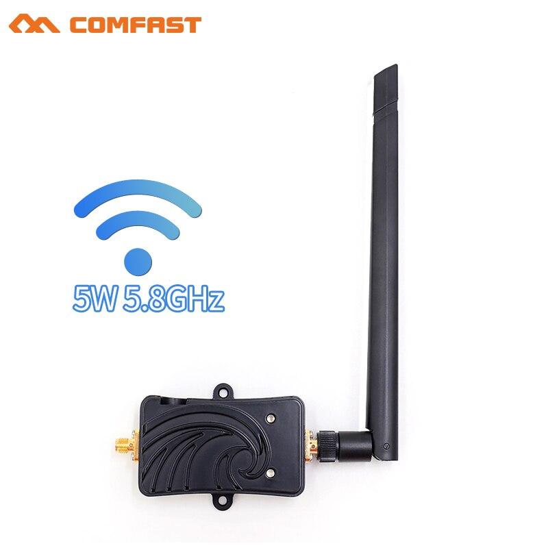 Amplificateur de Signal Wifi 5.8 Ghz 5 W répéteur d'extension de gamme wi-fi amplificateurs à large bande avec antenne pour adaptateur de routeur wi-fi sans fil