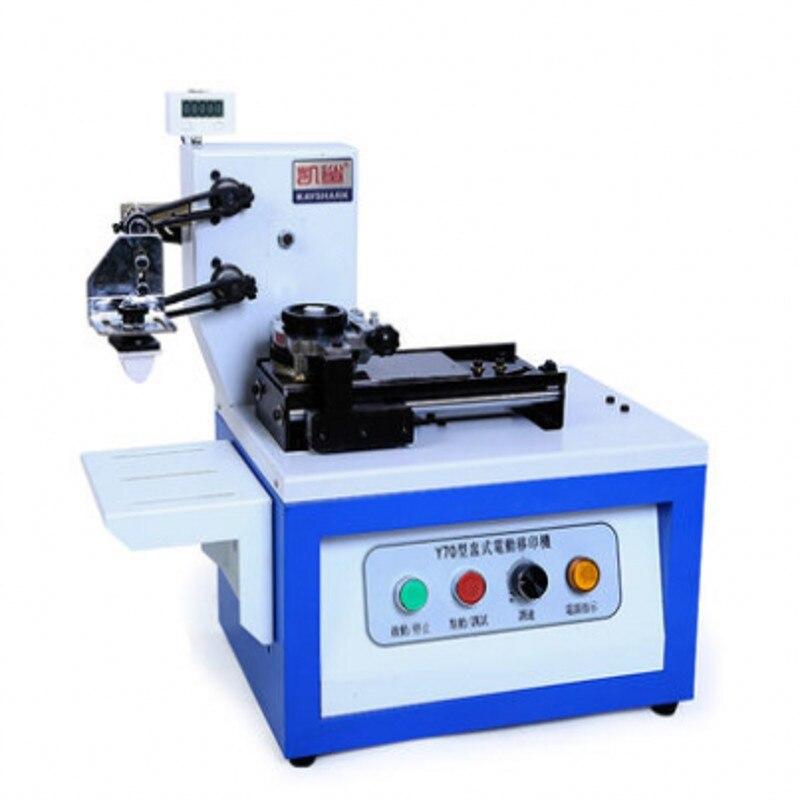 Электрический pad принтер печатная машина для продукта Дата, маленький логотип печати со счетчиком + резиновая прокладка + металлическая пла