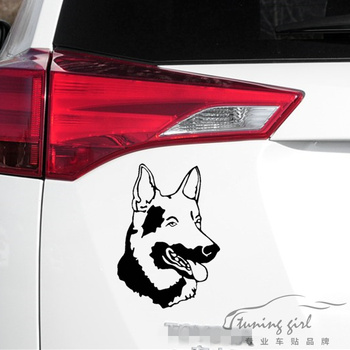 Car Stickers Shepherd Dog Wolf Dog Wolfhound demi-wolf Funny Creative Decals For Tail Waterproof Auto Tuning Styling 20x14cm D10 image