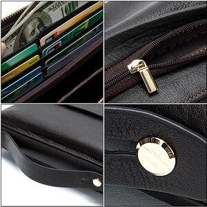Image 5 - MVA uzun cüzdan erkek hakiki deri erkek el çantası için bozuk para cüzdanı erkek fermuar cüzdan kredi kart tutucu iş para çantaları
