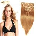 Клип в человеческих волос светлые цвета 7 8 10 шт. 70 г 100 г лучшие качества 7а 100% реальные человеческие волосы Remy клип на