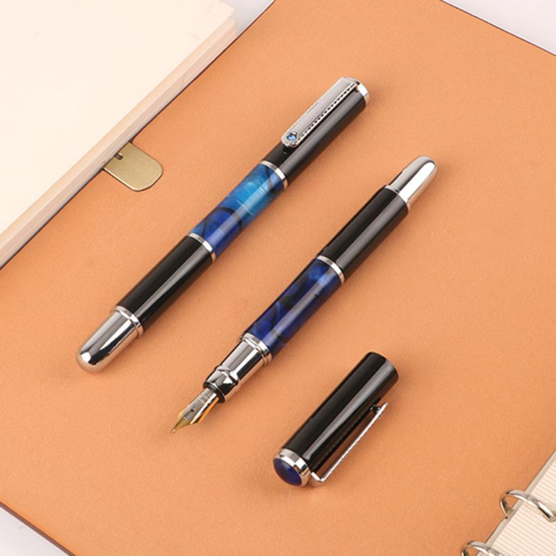Luxury Metal Ballpoint Fountain Pen Business Student Writing Calligraphy Office School Supplies 0.5mm