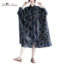 BelineRosa 2018 European Style Fashion Blouse Dresses 5XL 6XL 7XL Big Sizes Blouse Dresses Oversized Womnen Clothing XMR00085