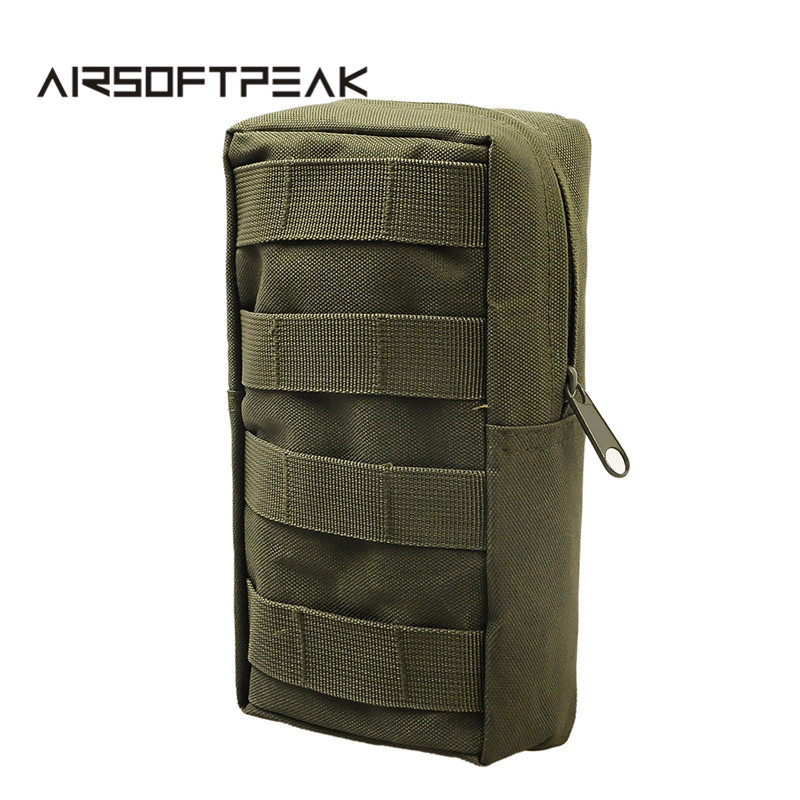 AIRSOFTPEAK MOLLE EDC Pouches Utility Bags Tactical Vest Waist Pouch Bag Wasit Pack Equipment for Outdoor Hunting Paintball military molle admin front vest ammo storage pouch magazine utility belt waist bag for hunting shooting paintball cf game
