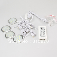 LED Round Slim Puck Light Cabinet SMD5050 9leds 12VDC 1 8W Aluminum Dimmable 15W Power Driver