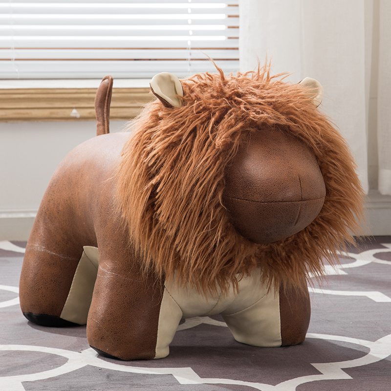 27%Creative lion shoes bench cartoon sitting bench sofa footstool holiday gift sofa stool animal test shoes stool low stool