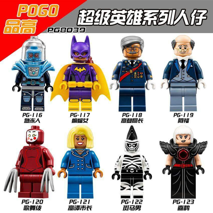 Super Heroes Mayor Ton Batgirl Mr. Freeze Kabuki Cnins Alfred Zebra Man Magpie Building Blocks Bricks Children Gift Toys PG8039 building blocks super heroes back to the future doc brown and marty mcfly with skateboard wolverine toys for children gift kf197