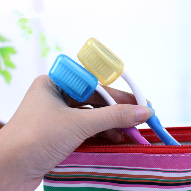 5pcs Portable Outdoor Travel Camping Toothbrush Protect Cover Case Holder Cover Mini Neat Tidy Healthy image