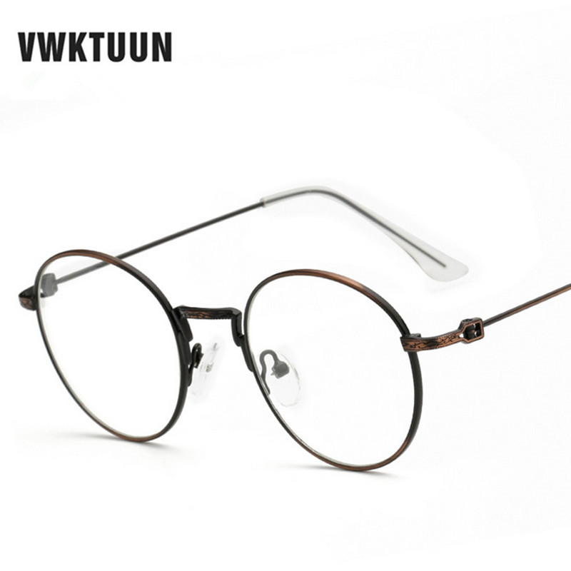 856d351d0a274 VWKTUUN Retro Decoration Optical Eyeglasses Frame Myopia Round Metal Men  Women Spectacles Eye glasses Oculos de grau Eyewear