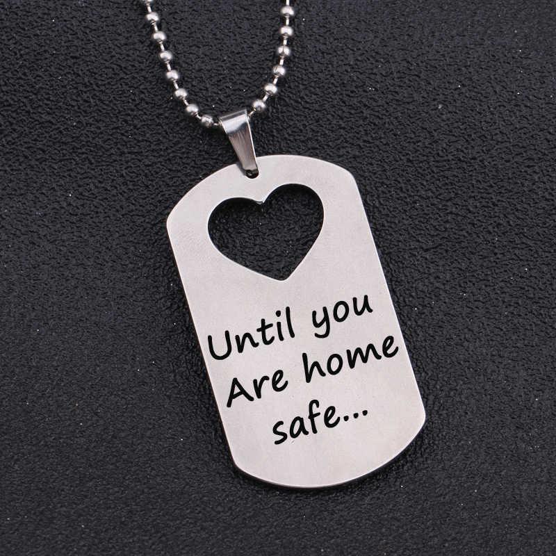 Любовь Пара милитари колье в форме сердца 1 комплект ожерелье из нержавеющей стали кулон для пары семья день рождения подарок на день Святого Валентина