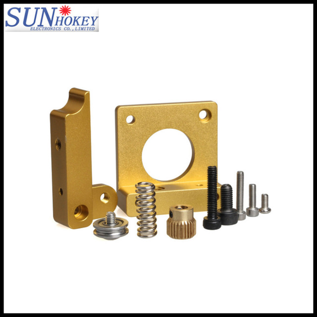 3D Printer Parts MK8 Extruder Block of Aluminum Extrusion Mk8 Single Extruder Kit Mounting Block kit