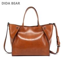 DIDABEAR luksusowe skórzane torebki damskie duże torby na ramię kobiece Bolsas Femininas Casual torby na ramię Lady Smile face torba