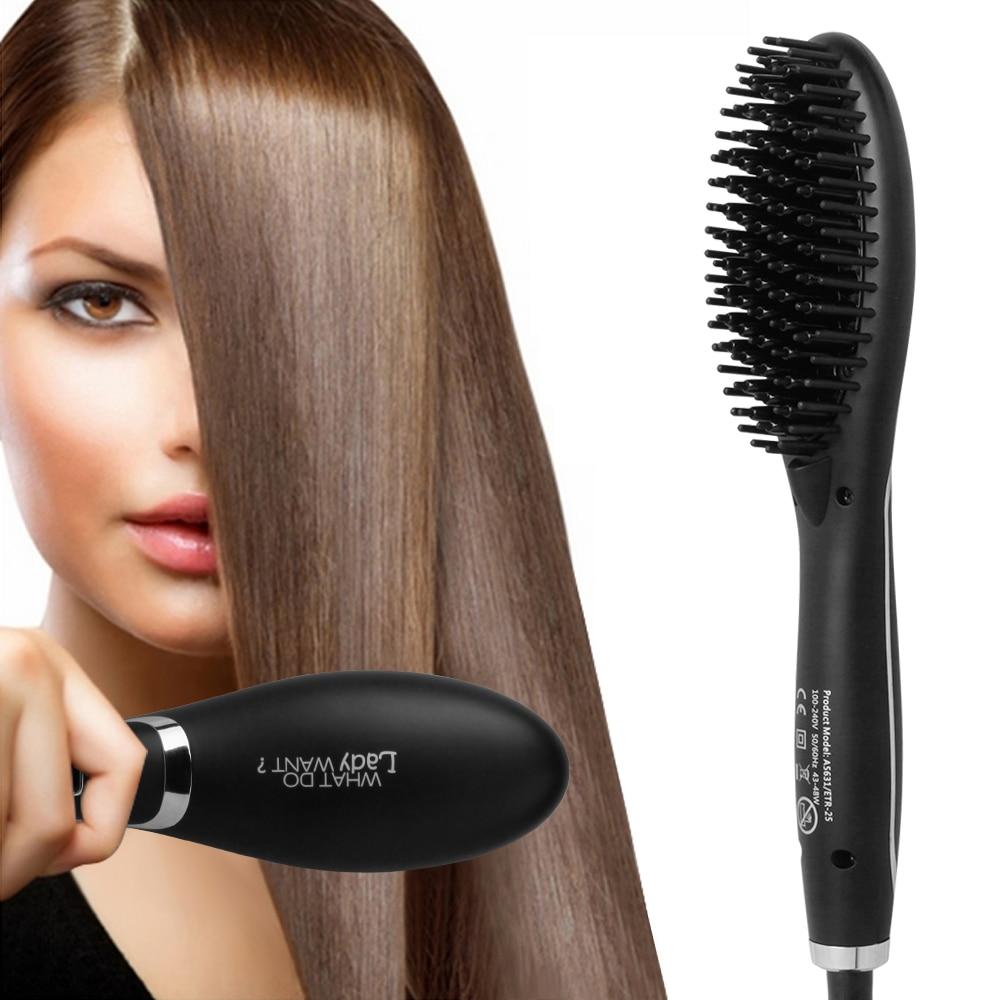 Brosse À cheveux Rapide Défriser Les Cheveux Peigne Cheveux Électrique Brosse Peigne Fers Auto Cheveux Raides Peigne ETR-28b