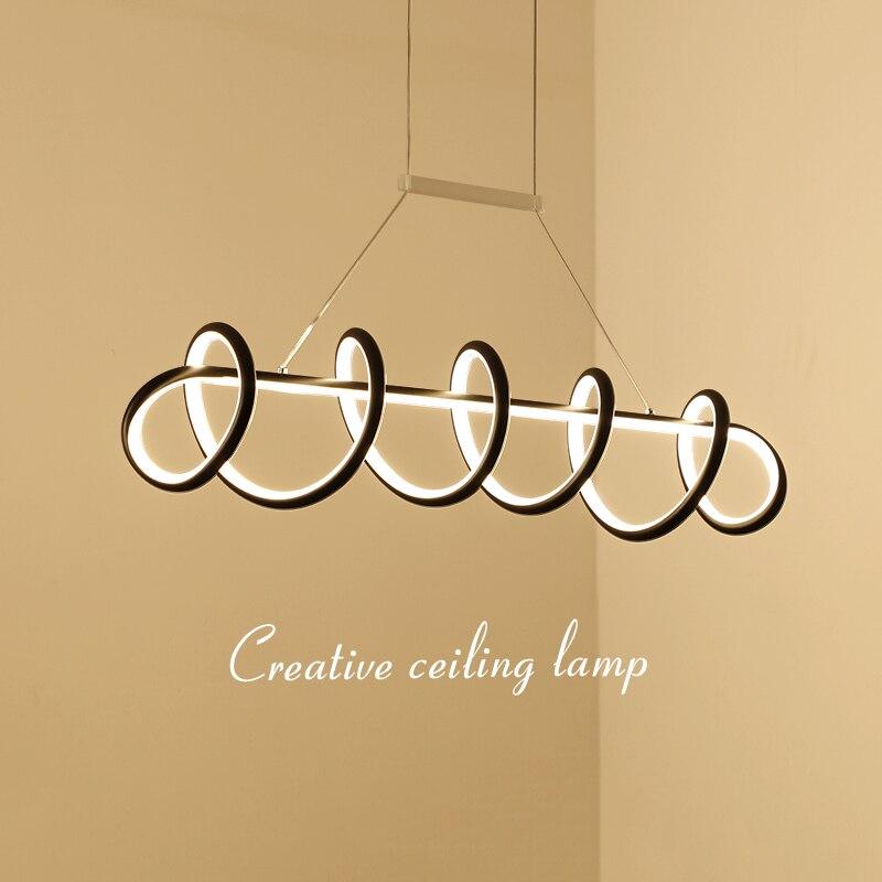 все цены на L900/1200mm Creative modern LED pendant lights White/Black hanging pendant lamp for dining room living room kitchen AC85-265V онлайн