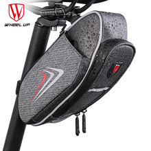 WHEEL UP Bicycle Saddle Bag With Water Bottle Pocket Waterproof MTB Bike Rear Bags Cycling Rear Seat Tail Bag Bike Accessories