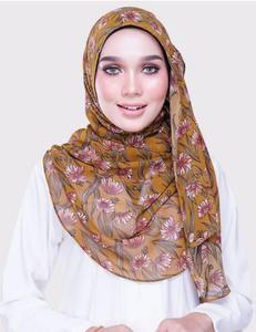 Image 3 - 女性プリント花柄スカーフバブルシフォンスカーフショールヒジャーブイスラム教ファッションロングラップヘッドバンド 28 色スカーフ 180*73 センチメートル