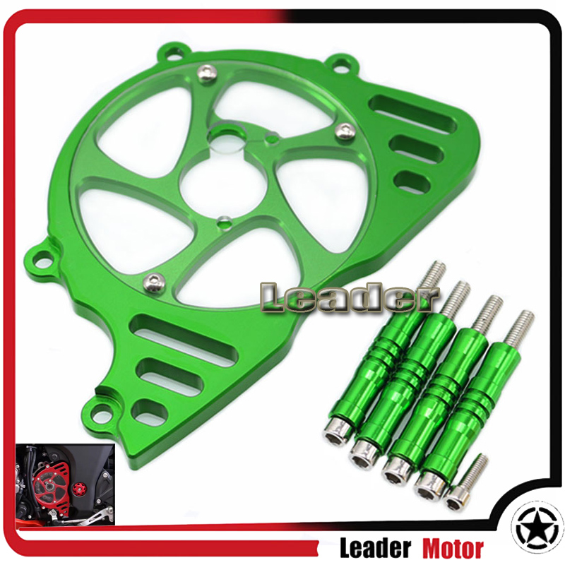 For KAWASAKI Z1000 Z 1000 2010 2011 2012 2016 Motorcycle Accessories Front Sprocket Chain Guard Cover Left Side Engine Green bjmoto cnc aluminum motorbike accessaries motorcycle engine guard cover pad for kawasaki z1000 r 2010 2011 2012