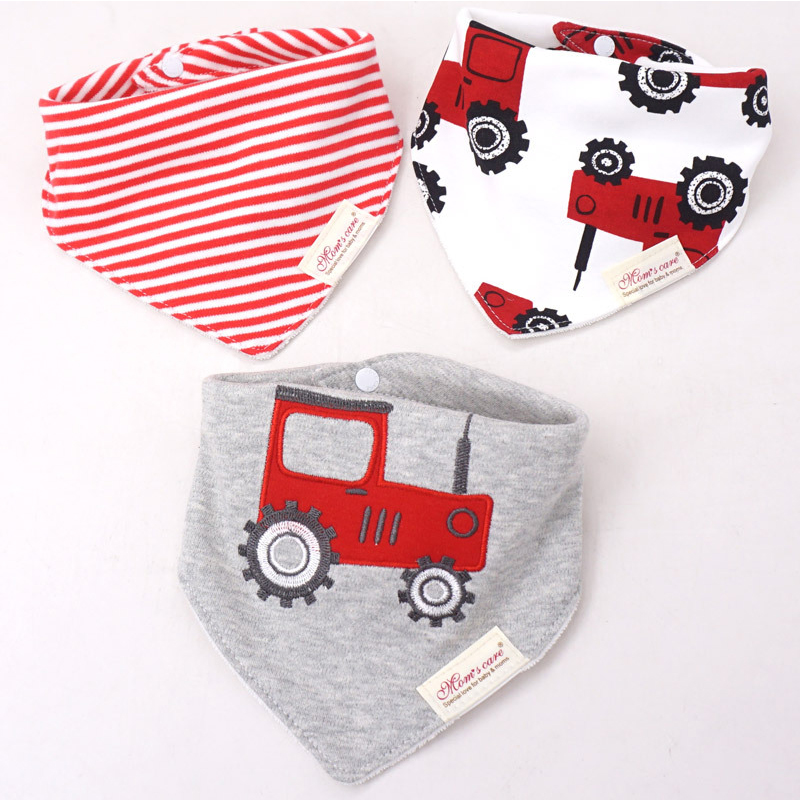 3pcs/lot Baby Bibs 100% Cotton High Quality Bebe Infant Saliva Towel For Boys And Girls Cartoon Newborn Baby Bib