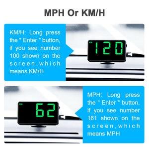 "Image 3 - Vjoy GPS Speedometer 4.5"" C80 Speed Odometer Mileage HUD Display Digital Speed Alarm MPH KMH Altitude Display Projector 3 C60s"