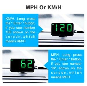 """Image 3 - Vjoy GPS compteur de vitesse 4.5 """"C80 odomètre de vitesse kilométrage HUD affichage alarme de vitesse numérique mi/h KMH affichage daltitude projecteur 3 C60s"""