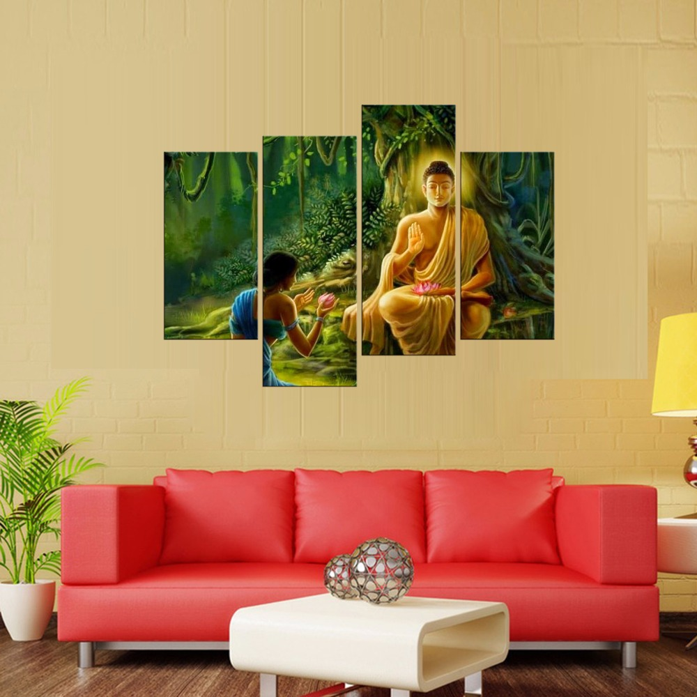Hot Sale 4Piece Canvas Art Printing Photo Beautiful (Bodhi series ...