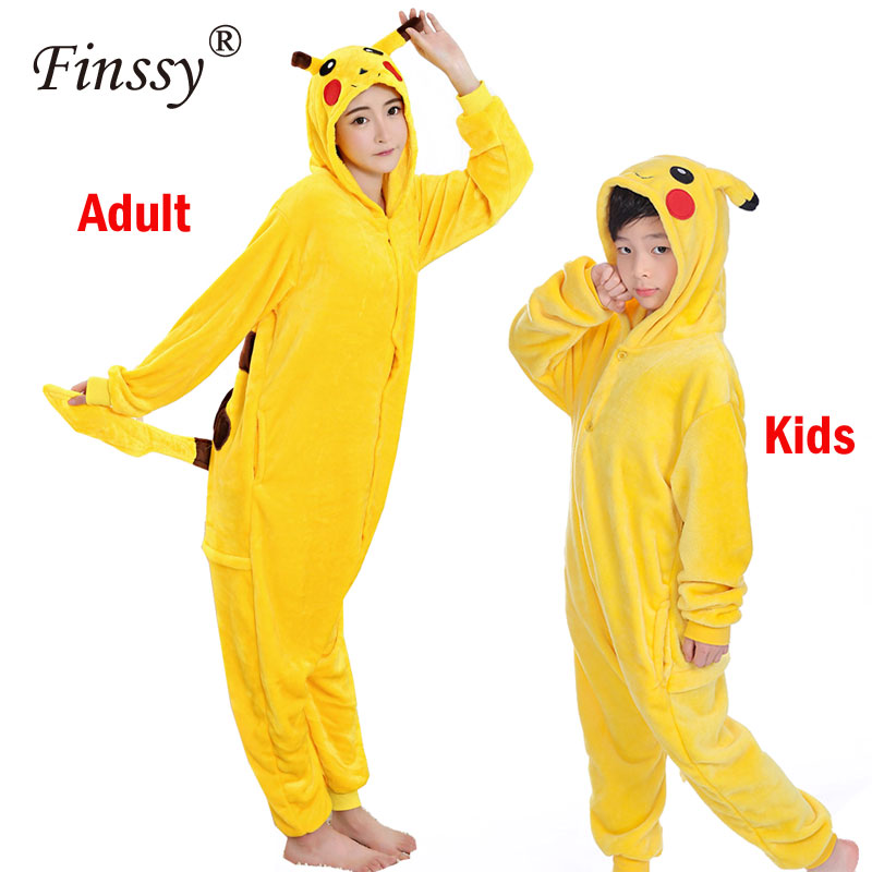pocket-monster-costume-for-kids-font-b-pokemon-b-font-pikachu-cosplay-costume-for-adult-home-clothes-panda-pajamas-kids-sleepwear