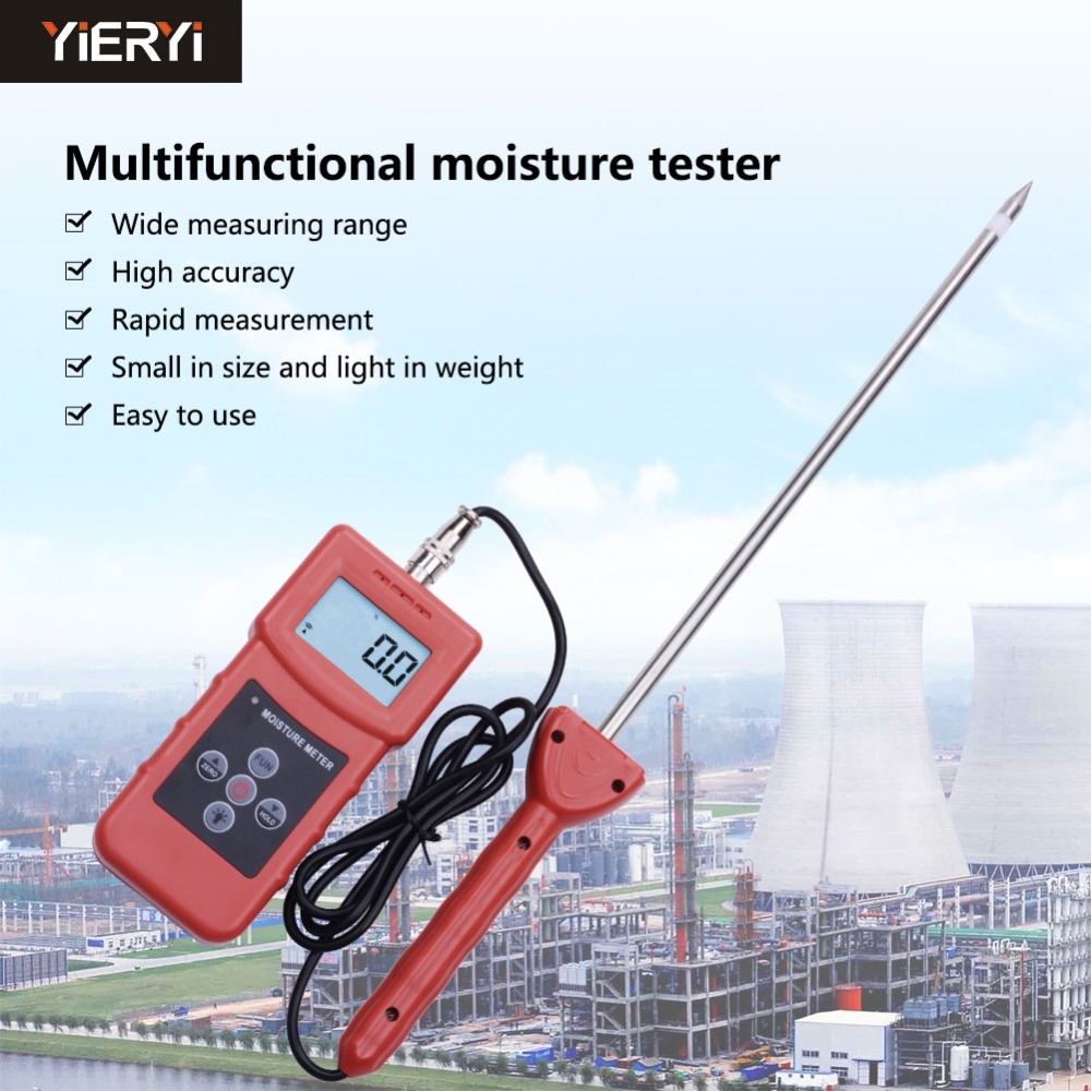 Yieryi MS350A Handheld Digital moisture meter for soil ,silver sand, chemical combination powder,coal Chemical powder Tester ms300 chemical combination powder coal powder and powder materials silver sand soil high frequency moisture meter