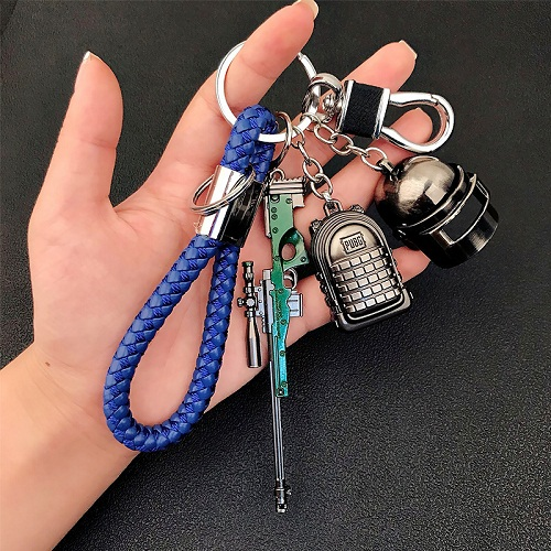 2019 High Quality Bar Arm Mini Model Metal Key Chain Helmet 98K BacKpack Pan Key Chain Car Wallet Man Key Chain Pendant in Key Chains from Jewelry Accessories