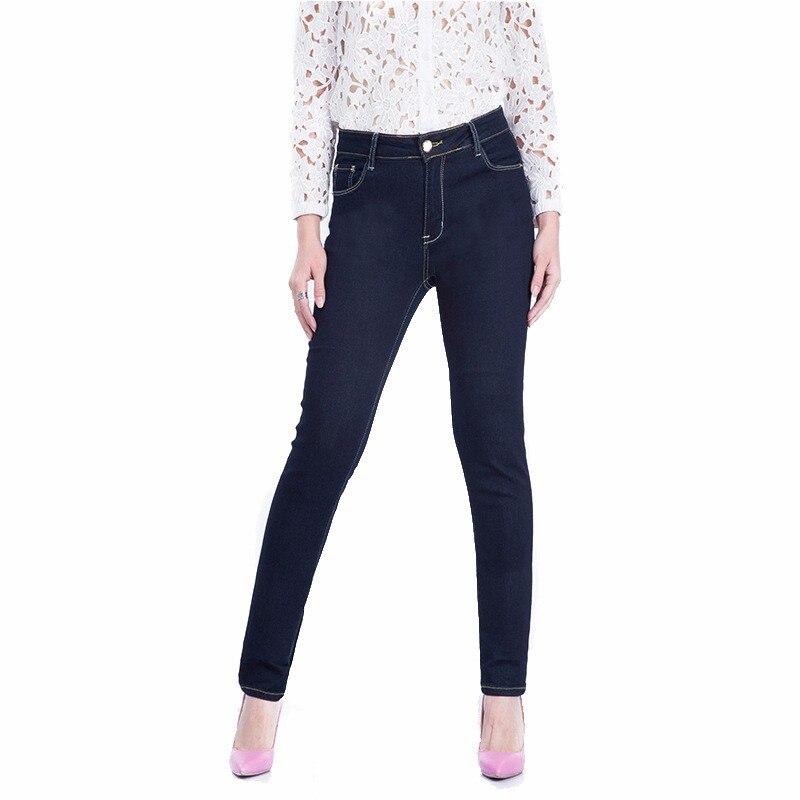 Новая женская одежда больших размеров 6XL 5XL 4XL XXXL темно-синие джинсы скинни для больших женщин C9718 женские брюки-карандаш