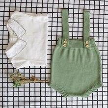 Roupa do bebê recém-nascido de malha algodão sleevele bebê menino macacão infantil da criança macacão para meninos meninas do bebê macacão traje outfits