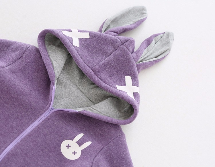 baby girl cross rabbit ear winter rompers (5)