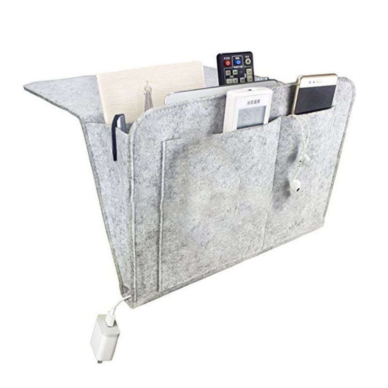 Christmas Bed Storage Pockets Felt Bedside Hanging Storage Organizer Holder with 2 Inner Pockets for Bed Table Sofa New 0259Christmas Bed Storage Pockets Felt Bedside Hanging Storage Organizer Holder with 2 Inner Pockets for Bed Table Sofa New 0259