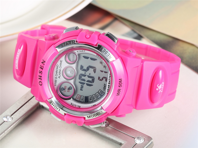 OHSEN Fashion Children Sports Watches Waterproof 5ATM Kids LED Digital Watch Student Outdoor Hand Electronic Clock Montre Femme (28)